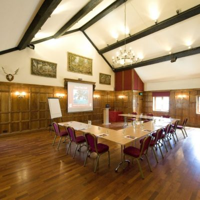 old panelled hall - conference setting 2 - U