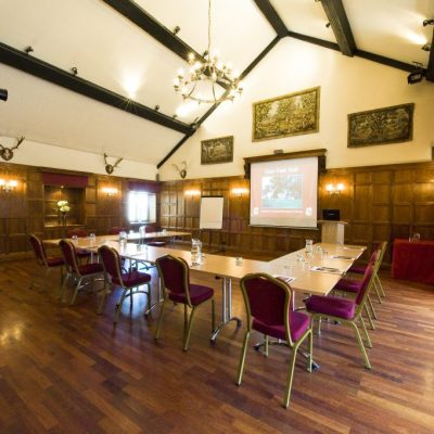old panelled hall - conference setting 3 - U
